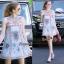 Lady Ribbon Online เสื้อผ้าออนไลน์ขายส่ง Normal Ally เสื้อผ้า NA09180816 &#x1F389Normal Ally Present elegance embroider flower asian organza style dress&#x1F389 thumbnail 1