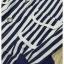 เสื้อกางเกง ผ้าลายริ้วสีน้ำเงินขาวคอปก thumbnail 6