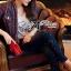 Lady Ribbon Online ขายส่งเสื้อผ้าออนไลน์ ขายส่งของแท้พร้อมส่ง Lady Ribbon LR17250716 &#x1F380 Lady Ribbon's Made &#x1F380 Lady Kim Skinny Jeans with Crystal Embellished thumbnail 4