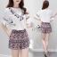 Lady Ribbon Online เสื้อผ้าแฟชั่นออนไลน์ขายส่ง เลดี้ริบบอนของแท้พร้อมส่ง sevy เสื้อผ้า SV06240716 &#x1F389Sevy Two Pieces Of V-Tassel Blouse With Bohemian Shorts Sets thumbnail 3