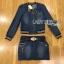 Lady Ribbon Online ขายส่ง เสื้อผ้าออนไลน์ ของแท้ ราคาถูกพร้อมส่ง เลดี้ริบบอน LR11140716 &#x1F380 Lady Ribbon's Made &#x1F380 Lady Olivia Sexy Sporty Zippy Denim Jacket and Skirt with Belt thumbnail 6
