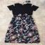 เสื้อผ้าแฟชั่นเกาหลีCliona made'Black Floral Dress thumbnail 4