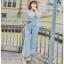 Lady Ribbon Jumpsuit Camisole ขายเซ็ตเสื้อสายเดี่ยว thumbnail 3