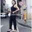 Black Crepe Jumpsuit Lady Ribbon จั้มป์สูทสีดำ thumbnail 5