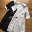 Shirt Dress เชิ้ตเดรสแขนสั้นผ้าลูกไม้สไตล์เฟมินีน thumbnail 10