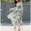 Lady Ribbon Silk Wrap Dress ขายเดรสผ้าชิลค์ thumbnail 2