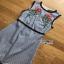 Rose Embroidered Checked Cotton Dress เดรสแขนกุด thumbnail 6