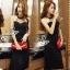 Lady Ribbon Online ขายส่งเสื้อผ้าออนไลน์ เสื้อผ้า Sevy SV13030816 &#x1F389Sevy Sexy See-through Mesh Round Neck Dress thumbnail 1