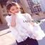 Lady Ribbon Isabella Flared-Sleeve Ribbon Lace Blouse thumbnail 4