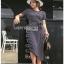 Striped Lady Ribbon Dress ขายเดรสผ้ายืด thumbnail 2