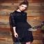 lace striped dress เดรสทรงคอเชิ้ตแขนยาวเลยศอก thumbnail 2