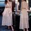 Lady Ribbon Crepe Maxi Dress เดรสผ้าลูกไม้ thumbnail 1