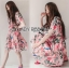 Lady Ribbon Online ขายส่ง เสื้อผ้าออนไลน์ ของแท้ ราคาถูกพร้อมส่ง เลดี้ริบบอน LR04140716 &#x1F380 Lady Ribbon's Made &#x1F380 Gucci Sweet Natural Floral Printed Pink Dress thumbnail 3