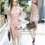 Lady Ribbon Online เสื้อผ้าออนไลน์ ขายส่ง VP04110716 Luxury Vintage embroidered Flowers Lace Dress thumbnail 1