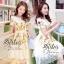 2Sister Made, White Lovely Beauty Dress With Flora Beauty Knitt เดรสลุคสวยหรู เนื้อผ้าorganzaเกรดดี thumbnail 1
