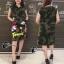 ดเดรสเกาหลีแขนกุดลายทหาร เสื้อผ้าปักเลื่อมรูป thumbnail 1