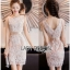 Lady Ribbon Nasha Basic Elegant Pale Pink-Nude Lace Dress thumbnail 1