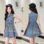2Sister Made, Cuties Lovely Jeans Fashion Dress เดรสยีนส์แขนกุด เนื้อผ้าเดนิมฟอกสีสวย thumbnail 2