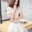 Dress เดรสผ้าทูลล์ปักลายสไตล์โมเดิร์นเฟมินีน thumbnail 3