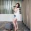 เสื้อแฟชั่นเกาหลีแขนกุดสีขาวแต่งโครเช thumbnail 8