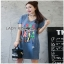 Lady Ribbon Denim Dress ขายเดรสผ้าเดนิม thumbnail 2