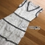 Lady Ribbon Aerin Black and White Lace Dress thumbnail 5