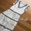 Lady Ribbon Aerin Black and White Lace Dress thumbnail 5