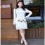 เสื้อผ้าแฟชั่น เดรสลูกไม้สีขาวแขนยาวเสื้อผ้าแฟชั่นออนไลน์ thumbnail 2