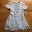 Lace Over Blue Crepe Mini Dress Lady Ribbon มินิเดรส thumbnail 7