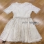 Lady Ribbon Nasha Sweet Classic White Lace Dress with Belt thumbnail 6