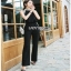 Lady Ribbon Smart Casual Pearl Black Jumpsuit ขายส่งจัมป์สูท thumbnail 5