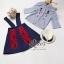 2Sister Made, Blue Elegant Cuties Lady Set เซ็ตเสื้อ+กระโปรงเอี้ยมใส่เข้าชุดกัน thumbnail 6