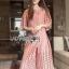 Lady Ribbon Online เสื้อผ้าออนไลน์ ขายส่งของแท้ราคาถููก LR12110716 &#x1F380 Lady Ribbon's Made &#x1F380 Lady Charlotte Pinky Feminine Hearty Embroidered Set thumbnail 2
