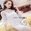 Classic White Lace Dress Lady Ribbon เดรสผ้าลูกไม้สีขาว thumbnail 3