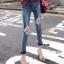 กางเกงยีนส์แฟชั่นแต่งรอยขาด แบรนด์เกาหลี Daisy thumbnail 16