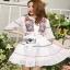 Lady Ribbon Lace Mini Dress มินิเดรสผ้าลูกไม้ thumbnail 4