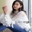 Lady Ribbon White Lace Blouse with Ribbon thumbnail 5