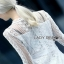 Lace Ruffle Dress Lady Ribbon เดรสลูกไม้สีขาว thumbnail 3