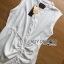 Lady Ribbon Online ขายส่งเสื้อผ้าออนไลน์ Lady Ribbon พร้อมส่ง LR15040816 &#x1F380 Lady Ribbon's Made &#x1F380 Lady Megan Brody Minimal Chic White Drape Peplum Dress thumbnail 7