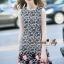 NA11010916 &#x1F389Normal Ally Present Love jacquard skirt dress&#x1F389 (เดรส , มีซับใน, ซิปหลัง) thumbnail 5