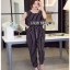 Minimal Chic Striped Cropped Jumpsuit Lady Ribbon จัมป์สูท thumbnail 2