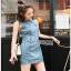 Lady Ribbon Denim Mini Dress มินิเดรส thumbnail 4