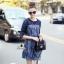 denim dress เดรสงานผ้าdenimสุดเก๋ ช่วงไหล่แ thumbnail 2