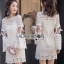 Lady Ribbon ขายส่ง White Lace Dress thumbnail 1