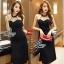 Lady Ribbon Online ขายส่งเสื้อผ้าออนไลน์ เสื้อผ้า Sevy SV13030816 &#x1F389Sevy Sexy See-through Mesh Round Neck Dress thumbnail 2