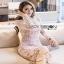 Lady Ribbon Pale Pink Midi Dress thumbnail 4