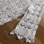 Summer Style White Crochet Dress Lady Ribbon เดรสผ้าถักโครเชต์ thumbnail 6