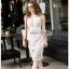 Guipure Lady Ribbon Lace Dress ขายเดรสผ้าลูกไม้ thumbnail 3
