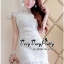 Lady Ribbon Online เสื้อผ้าแฟชั่นออนไลน์ขายส่ง เลดี้ริบบอนของแท้พร้อมส่ง Veryverypreppy เสื้อผ้า VP05240716 Florals White Elegance Korea Dress thumbnail 4