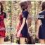 Lady Ribbon Online เสื้อผ้าออนไลน์ขายส่ง lady ribbon เสื้อผ้า LR16150816 Red Roses Embroidered Mini Dress มินิเดรสปักลายดอกกุหลาบสีแดง thumbnail 1